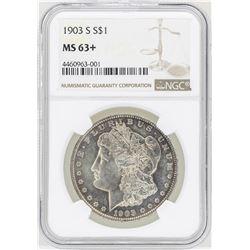 1903-S $1 Morgan Silver Dollar Coin NGC MS63+