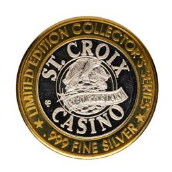 .999 Fine Silver St. Croix Casino Turtle Lake $10 Limited Edition Gaming Token
