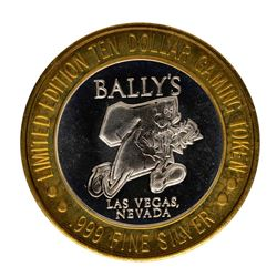 .999 Fine Silver Bally's Las Vegas, Nevada $10 Limited Edition Gaming Token