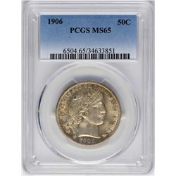 1906 Barber Half Dollar Coin PCGS MS65
