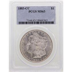 1883-CC $1 Morgan Silver Dollar Coin PCGS MS63