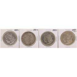 Lot of 1881, 1884, 1885, 1885-O $1 Morgan Silver Dollar Coins