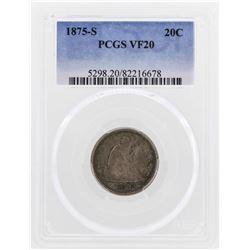1875-S Twenty Cent Piece Coin PCGS VF20