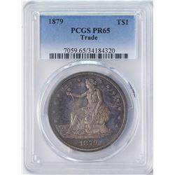 1879 $1 Proof Trade Silver Dollar Coin PCGS PR65