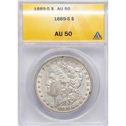 1889-S $1 Morgan Silver Dollar Coin ANACS AU50