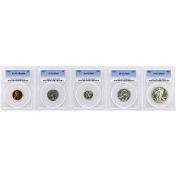 1937 (5) Coin Proof Set PCGS Graded PR63/64/65