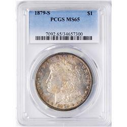 1879-S $1 Morgan Silver Dollar Coin PCGS MS65 Nice Color