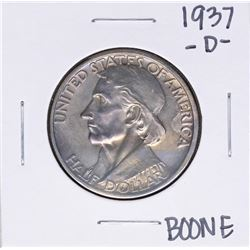 1937-D Boone Bicentennial Commemorative Half Dollar Coin