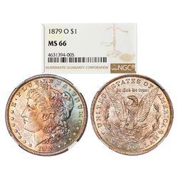 1879-O $1 Morgan Silver Dollar Coin NGC MS66 Amazing Toning