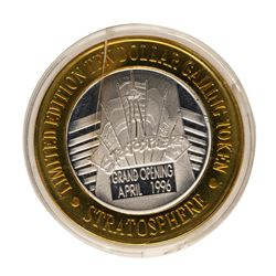 .999 Fine Silver Stratosphere Las Vegas, Nevada $10 Limited Edition Gaming Token