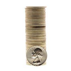 Roll of (40) Brilliant Uncirculated 1963-D Washington Quarter Coins