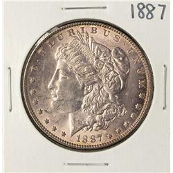 1887 $1 Morgan Silver Dollar Coin Amazing Toning