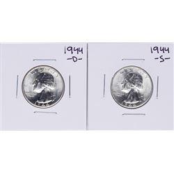 Lot of 1944-D & 1944-S Washington Quarter Coins