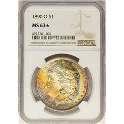 1890-O $1 Morgan Silver Dollar Coin NGC MS63 STAR Amazing Rainbow Toning