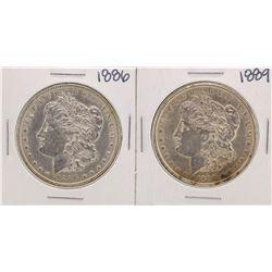 Lot of 1886 & 1889 $1 Morgan Silver Dollar Coins