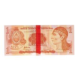 Pack of (100) Uncirculated 2012 Central Bank of Honduras 1 Lempira Bank Notes