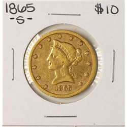 1865-S $10 Liberty Head Eagle Gold Coin