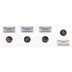 Set of (4) 2001-S Proof State Quarter Coins PCGS PR69DCAM
