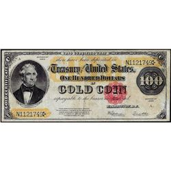 1922 $100 Gold Certificate Note
