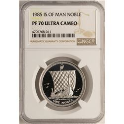 1985 Proof Platinum Isle of Man Noble Coin NGC PF70 Ultra Cameo