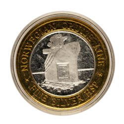 .999 Fine Silver Norwegian Cruise Line $10 Limited Edition Gaming Token