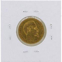 1858-A France 20 Francs Gold Coin