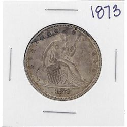 1873 Closed 3 Liberty Seated Half Dollar Coin
