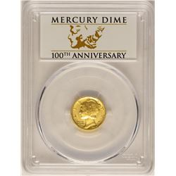 2016-W Mercury Dime Gold Centennial Commemorative Coin PCGS SP70 First Strike