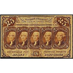 July 17, 1862 Twenty-Five Cent First Issue Fractional Currency Note