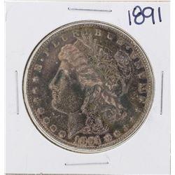 1891 $1 Morgan Silver Dollar Coin - Great Toning!