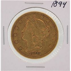 1894 $20 Liberty Head Double Eagle Gold Coin