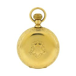 Antique Hampden Watch Co. Pocket Watch - 14KT Yellow Gold