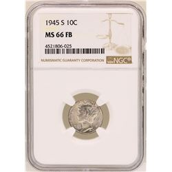1945-S Mercury Dime Coin NGC MS66FB