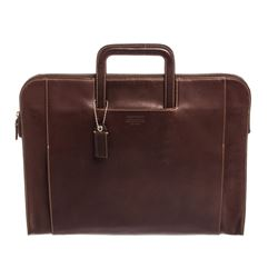 Coach Dark Brown Leather Vintage Briefcase
