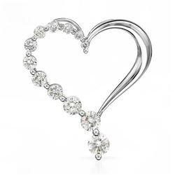 14k White Gold 0.24CTW Diamond Necklace, (SI3/G-H)