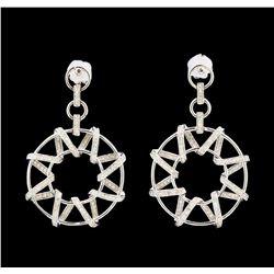 14KT White Gold 1.49 ctw Diamond Earrings