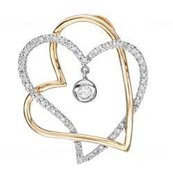 14k Two Tone Gold 0.60CTW Diamond Pendant, (I1-I2/SI3/G-H)