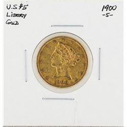 1900-S $5 Liberty Head Half Eagle Gold Coin
