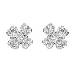 14k White Gold 0.31CTW Diamond Earring, (SI2-SI3/G-H)