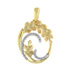 14K Yellow Gold 0.11CTW Diamond Pendant Necklace, (I1-I2/H-H)