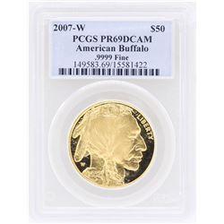 2007-W  $50 American Buffalo Gold Coin PCGS PR69DCAM