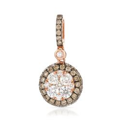 14k Rose Gold 0.89CTW Diamond and Brown Diamonds Pendant, (SI/H)