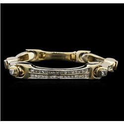 14KT Yellow Gold 6.08 ctw Diamond Bracelet
