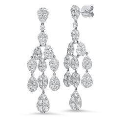 14K Yellow Gold 8.23CTW Diamond Earring, (VS/VS/G)