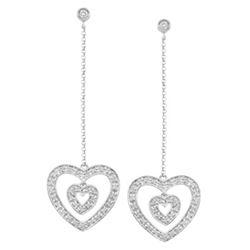14k White Gold 0.38CTW Diamond Earring, (I1 /I)