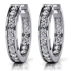 14k White Gold 0.75CTW Diamond Earring, (VS/F-G)