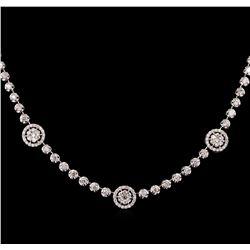 2.53 ctw Diamond Necklace - 14KT White Gold
