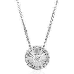 14k Gold 0.12CTW Diamond Necklace, (SI2/H)