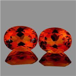 Natural  AAA Madeira Orange Citrine Pair 10x8 MM - FL
