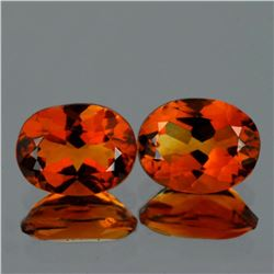 Natural AAA Madeira Orange Citrine Pair 9x7 MM - FL